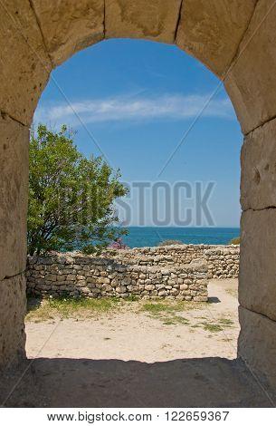 Chersonesus Near Sevastopol In Crimea In Spring
