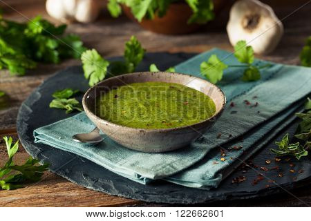 Raw Organic Green Chimichurri Sauce Ready to Use
