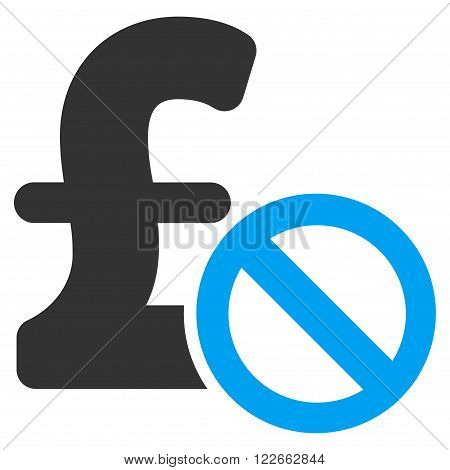 Forbidden Pound Payment vector icon. Forbidden Pound Payment icon symbol. Forbidden Pound Payment icon image. Forbidden Pound Payment icon picture. Forbidden Pound Payment pictogram.