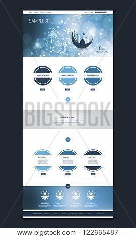Website Template Design - Eid Mubarak Theme