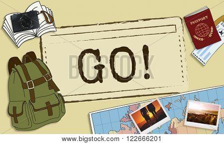 Go Beginning Journey Goal Direction Future Concept