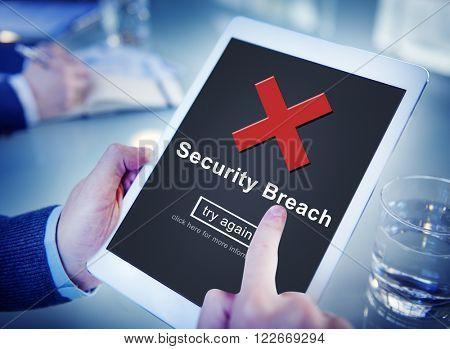 Security Breach Computer Data Hacker Information Concept