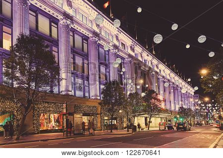 13 November 2014 Oxford Street, London, Decorated For Christmas