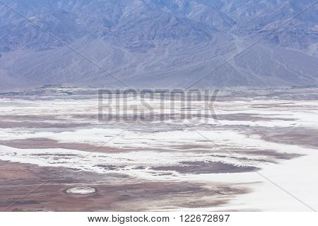 Aerial view of Badwater Basin from Dante's View in Death Valley National Park