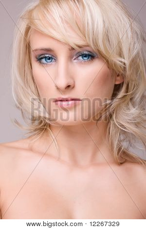Portrait Attractive Blond Girl
