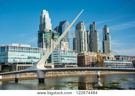 Buenos Aires - January 24, 2016: View of Puerto Madero, Argentina on January 24, 2016.