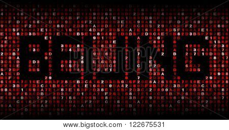 Beijing text on hex code illustration