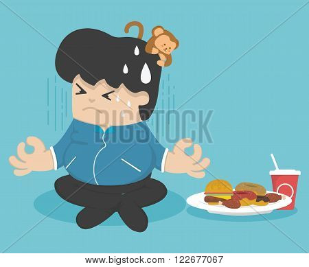 Dieting to lose weight vector eps .10 Illustration