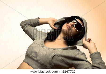 Teen Girl With Sunglasses