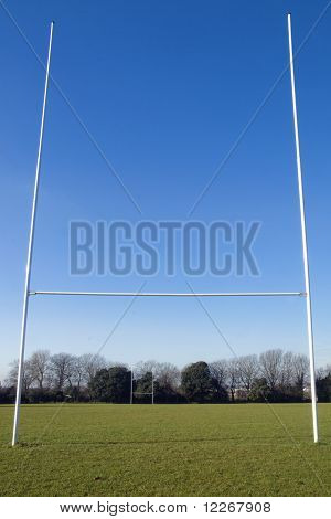 Rugby posts and pitch