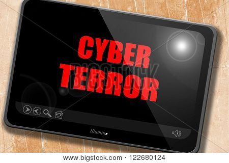 Cyber terror background with some smooth lines
