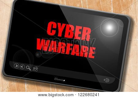 Cyber warfare background with some smooth lines