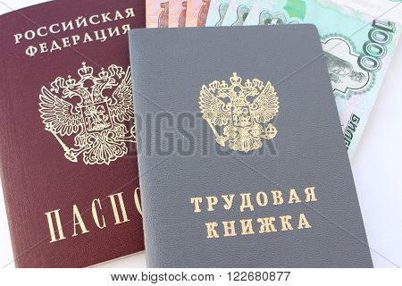 Passport of a Russian citizen and employment history