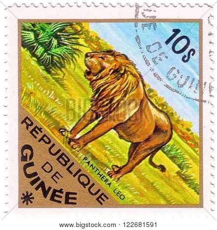 GUINEA - CIRCA 1975: A stamp printed in Guinea from the
