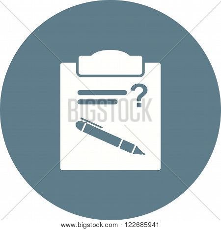 Question, problem, mark icon vector image. Can also be used for schooling. Suitable for use on web apps, mobile apps and print media.