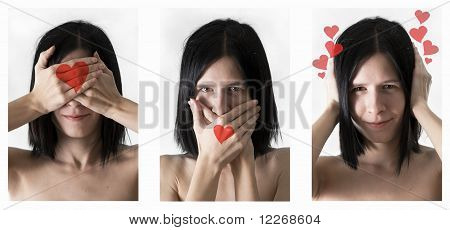 Triptych Blinding Silence And Not Heard About Love