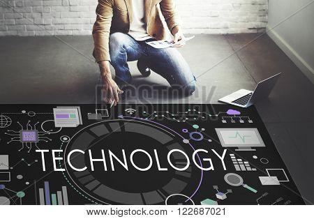 Technology Tech Digital Evolution Internet Data Concept