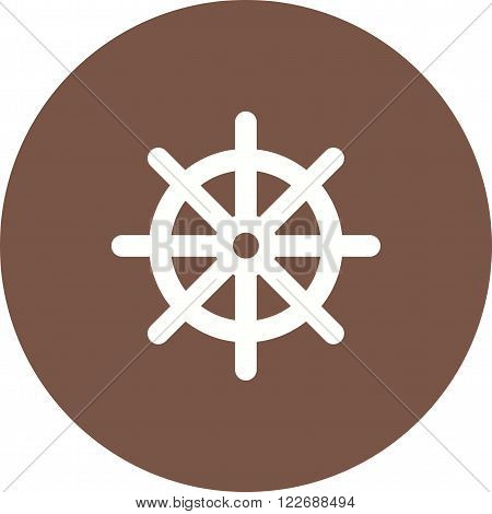 Wheel, ship, steering icon vector image. Can also be used for sea. Suitable for use on web apps, mobile apps and print media.