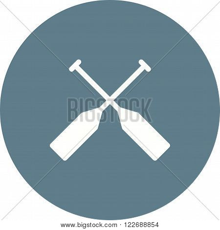Oar, paddle, rafting icon vector image. Can also be used for sea. Suitable for use on web apps, mobile apps and print media.
