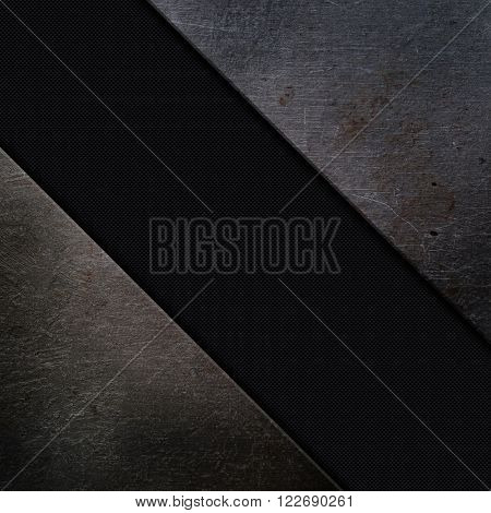 Grunge metal and carbon fibre background