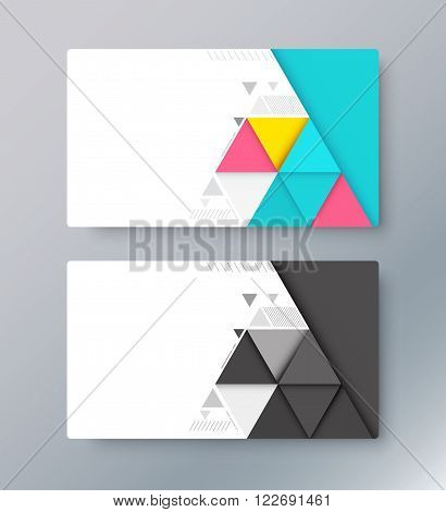 Abstract material card background. business card design. vector illustration.