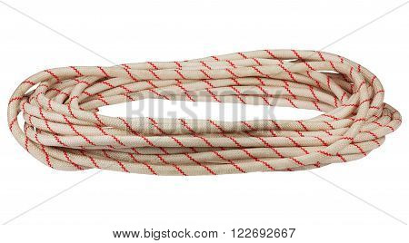 Hank of twisted rope isolated at white background
