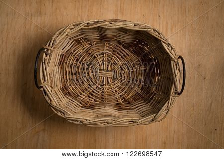 An Empty Wicker Basket
