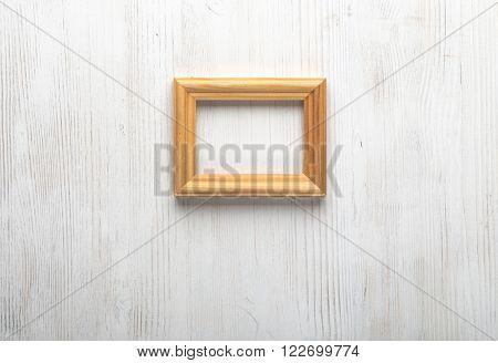 photo frame on white wall