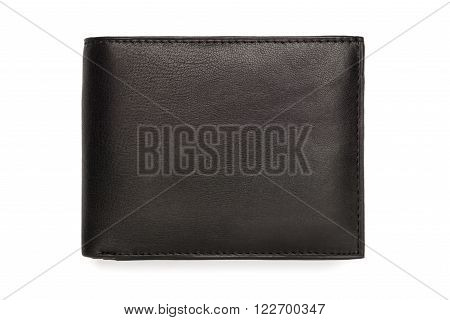 Folded Fine Grain Black Leather Wallet