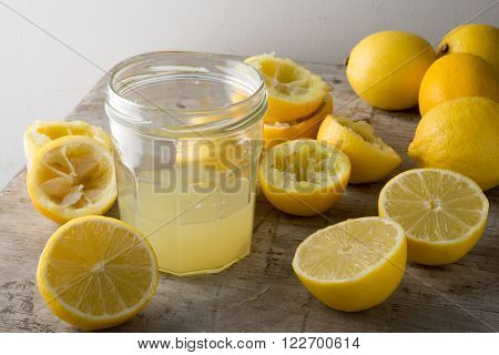 A Glass Of Freshly-squeezed Lemon Juice