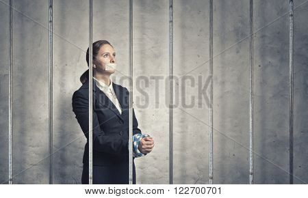 Woman prisoned in ward