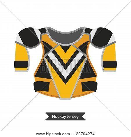 Ice hockey sport equipment. Vector hockey protection. Vector isolated hockey protective shell. Ice hockey protection.