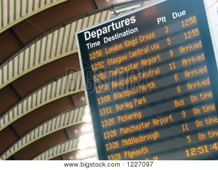 Departure Timetable