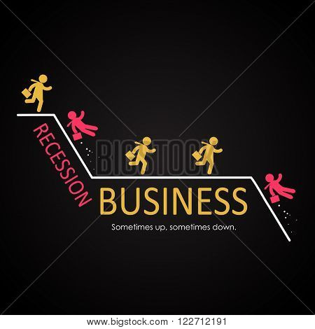 Business Recession illustration template for commercial and private use