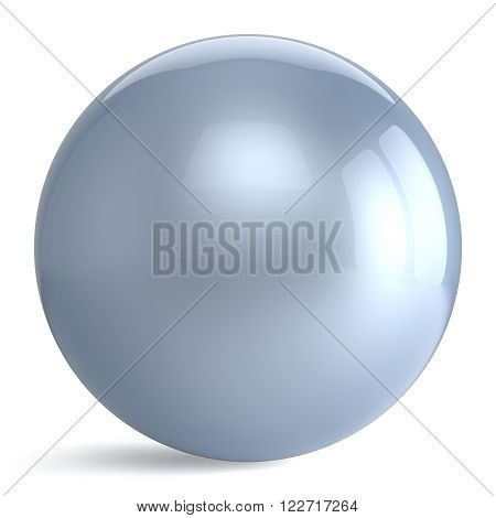 Sphere button round white silver ball geometric shape basic circle solid figure simple minimalistic atom element single drop shiny glossy pearl sparkling object blank balloon icon. 3d render