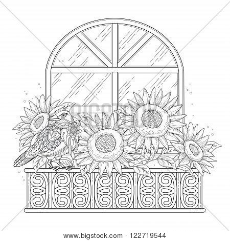 Beautiful Sunflowers Coloring Page
