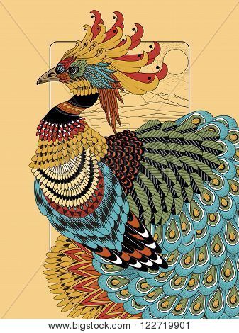 Sumptuous Peacock Coloring Page