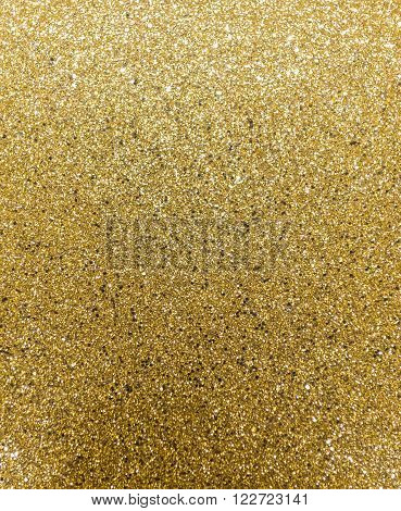 Glittery Gold Background Wrapping Paper Sheet Surface