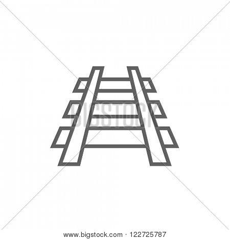 Railway track line icon.