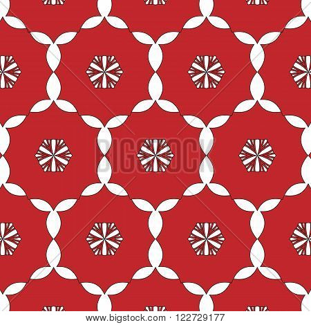 Primitive Simple Red Modern Pattern