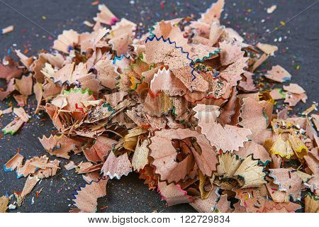 Background Of Multicolor Pencil Shavings