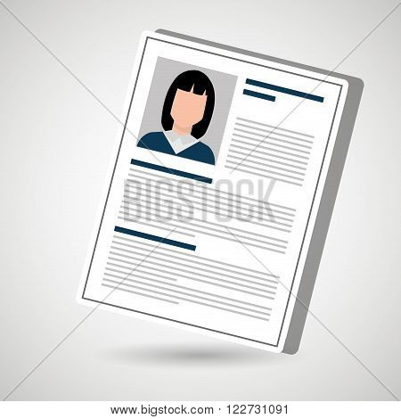 curriculum vitae design, vector illustration eps10 graphic