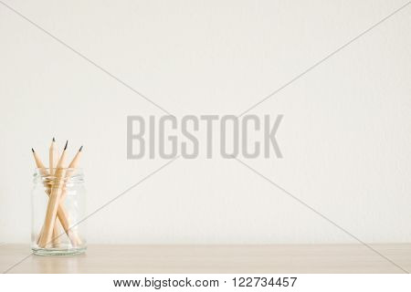 brown Wooden pencil isolated on white background