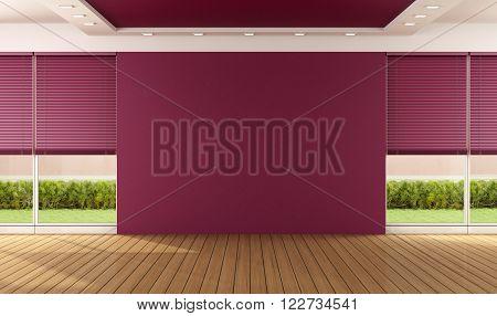 Empty Purple Room