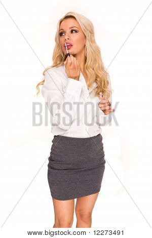 Blonde Sexy Business Lady