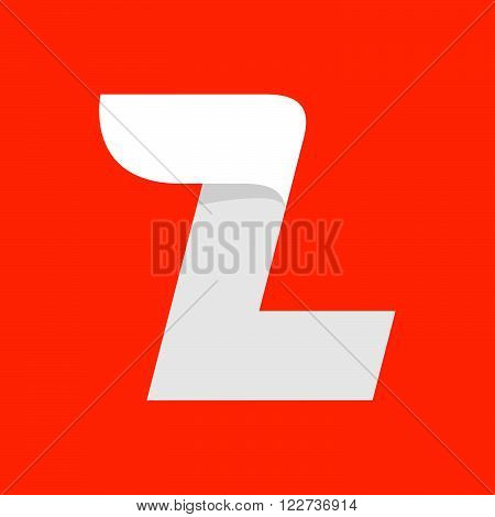 L Letter Logo With A Wing On Red.