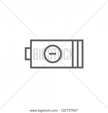 Low power battery line icon.