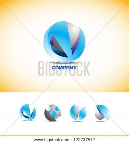 Vector company logo icon element template sphere circle games media global corporate business