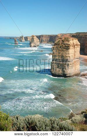 Beautiful View of Twelve Apostles with beaches, Australia