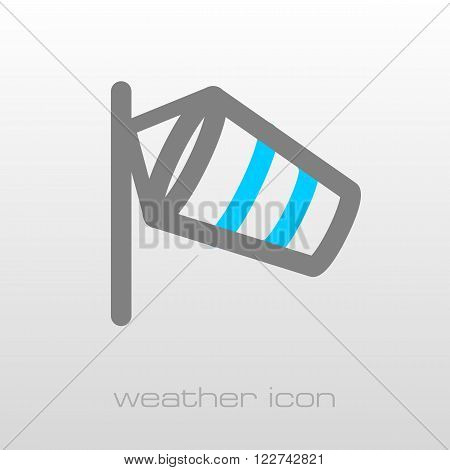 Windsocks hanging at the airport runway. Meteorology. Weather. Vector illustration eps 10